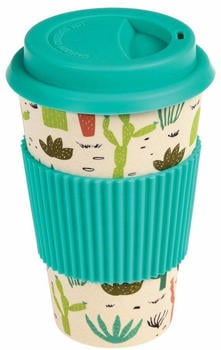 Dotcomgiftshop Coffee To Go Becher Bambus Kaktus