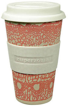 Zuperzozial Coffee to-go Becher Cruising Travel Mug DNA Pink