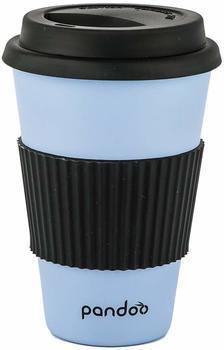 pandoo Bambus Coffee-to-Go-Becher 450 ml blau