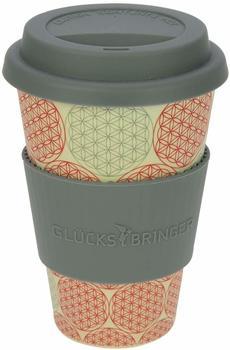 Ebos Bambusbecher Coffee-to-go Blume des Lebens