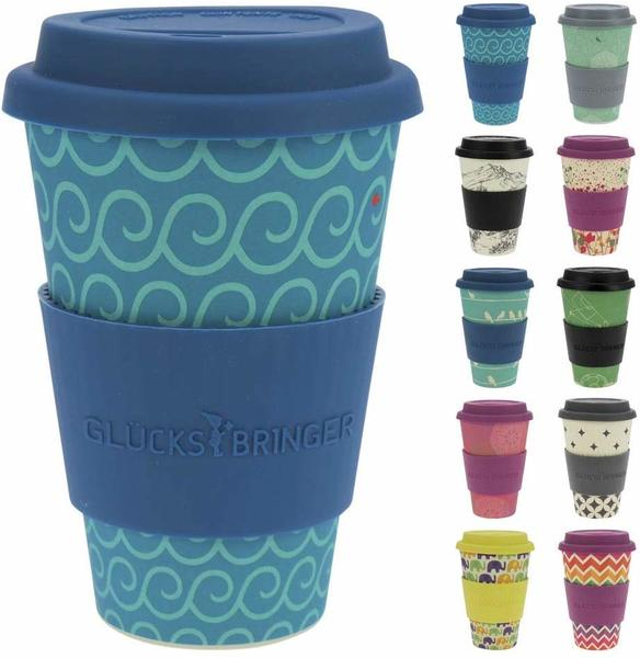 Ebos Bambusbecher Coffee-to-go Cool Waves