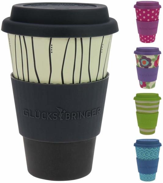 Ebos Bambusbecher Coffee-to-go Dark Stripes