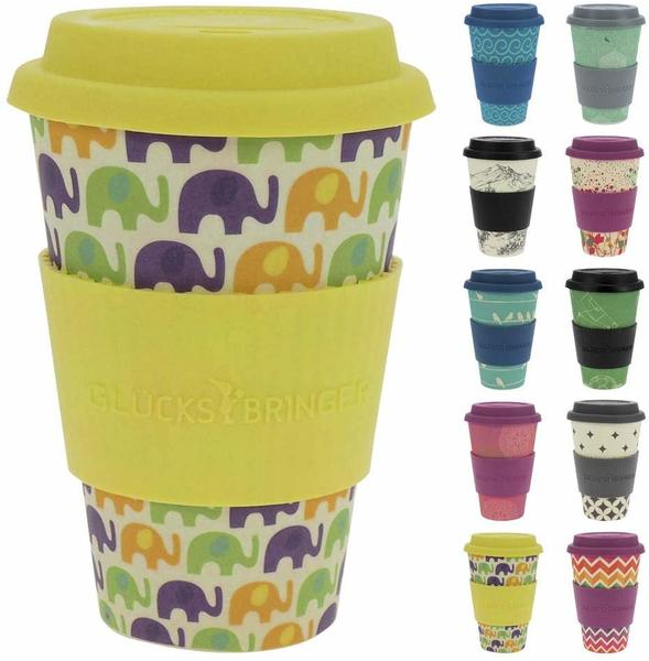 Ebos Bambusbecher Coffee-to-go Elephant Love
