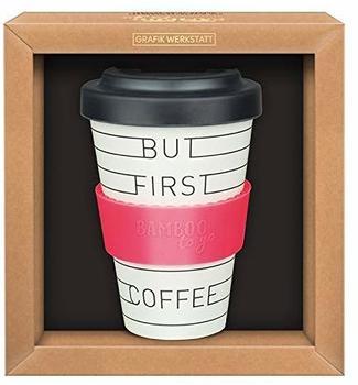 Grafik Werkstatt Premium Bamboo To Go Becher But First Coffee