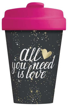 Chic.mic BambooCup Travel Mug 400 ml All you need is love Gold