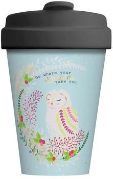 Chic.mic BambooCup Travel Mug 400 ml Owl Dreams gold