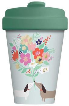 Chic.mic BambooCup Travel Mug 400 ml Lovely Doggies gold