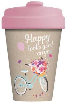 Chic.mic BambooCup Travel Mug 400 ml Happy looks good