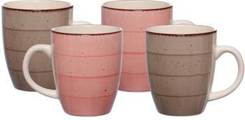 Ritzenhoff & Breker Kaffeebecher-Set Happy (4-tlg.) rosa-grau