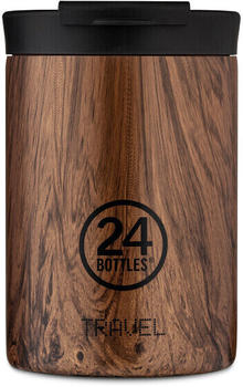24Bottles Wood Travel Trinkbecher 350 ml sequoia wood