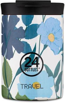 24Bottles Floral Travel Trinkbecher 350 ml morning glory