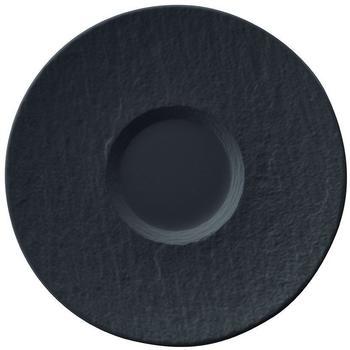 Villeroy & Boch Manufacture Rock Milchkaffee-Untertasse schwarz (17,3 cm)