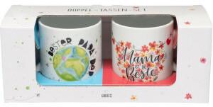 Sheepworld Tassen-Set Mama ist die Beste und Bester Papa der Welt Geschenkbox