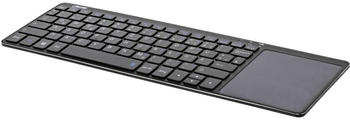 InLine Wireless Aluminium Slim-Tastatur mit Touchpad DE schwarz (55377S)