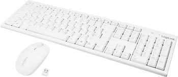 LogiLink 2.4GHz Wireless Keyboard/Mouse Combo Set with Autolink (white)