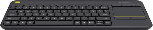 Logitech K400 Plus Wireless Touch Tastatur (black) NL