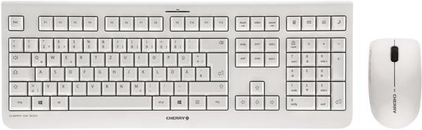 Cherry DW 3000 Funk-Tastatur,- Maus-Set Weiß