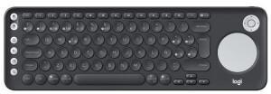 Logitech K600 TV - Tastatur - Spanisches Layout - mit Touchpad, D-pad - Bluetooth, 2.4 GHz
