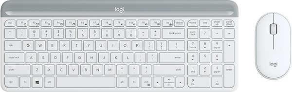 Logitech Slim Wireless Combo MK470 (white)(DE)