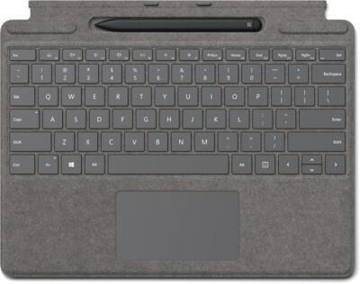 Microsoft Surface Pro X Signature Keyboard + Slim Pen Bundle grau (DE)