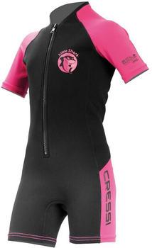 Cressi Little Shark 2mm Short Sleeve black/pink