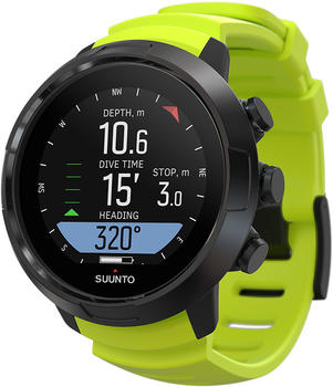 Suunto D5 with USB cable lime/black