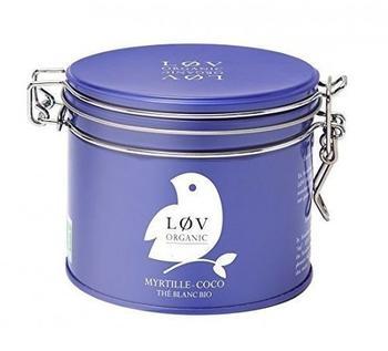 LØV ORGANIC Blaubeere Kokos Weißer Tee 100 g