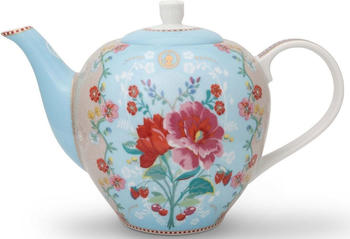 PiP Studio Teekannne Floral Rose (1,6 L) blau