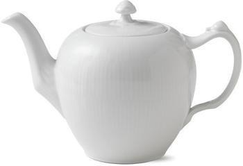 Royal Copenhagen White Fluted Teekanne gerippt 1 L