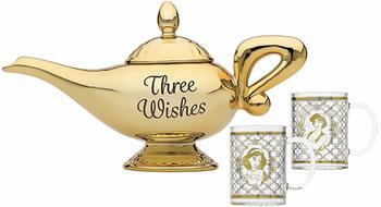 Disney Aladdin Lamp Tea Pot and Glasses Set