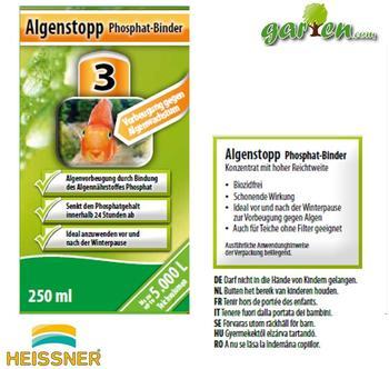 Heissner Algenstopp Phosphat-Binder 250 ml