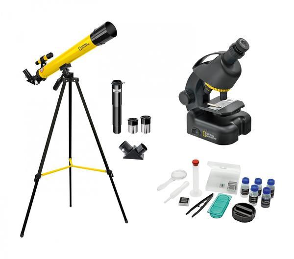 National Geographic Teleskop und Mikroskop Set für Einsteiger