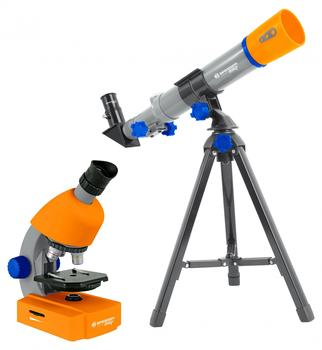 bresser-optik-junior-teleskop-mikroskop-set-linsen-teleskop-azimutal-achromatisch-vergroesserung