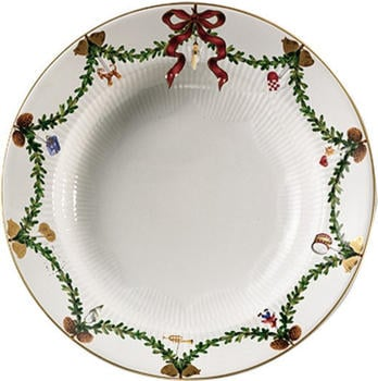 Royal Copenhagen Star Fluted Christmas Teller, tief 24 cm