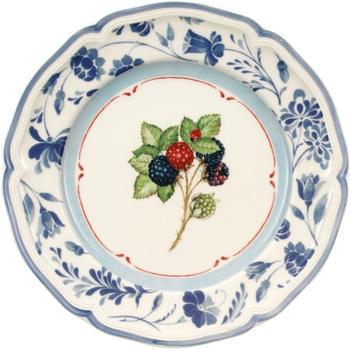 Villeroy & Boch Cottage Frühstücksteller 21 cm rund Brombeerblau