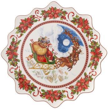 Villeroy & Boch Toy's Fantasy Gebäckteller gross 42 cm Santas Flug