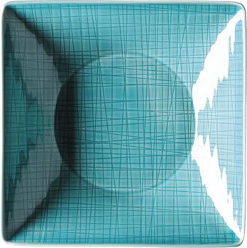 Rosenthal Mesh 20 cm quadr. tief Aqua