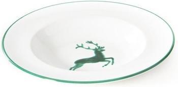 Gmundner Suppenteller Gourmet 24 cm grüner Hirsch