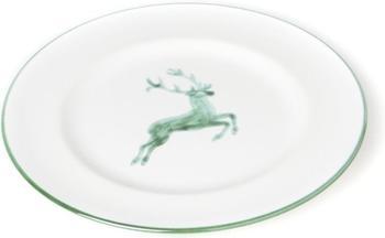 Gmundner Dessertteller Gourmet 22 cm grüner Hirsch