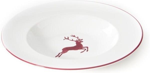 Gmundner Pastateller Gourmet 29 cm roter Hirsch