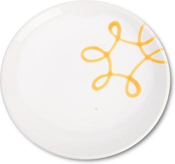 Gmundner Dessertteller Pur 20 cm Geflammt gelb