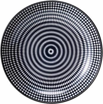 Van Well Suppenteller, Porzellan, 6 Stück, Black Circle