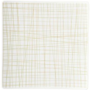 Rosenthal Teller quadr. 17 cm flach Mesh Line Cream