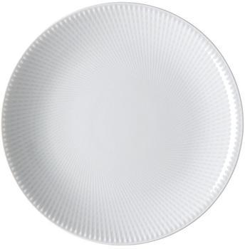 Rosenthal Teller Blend Weiß flach 21 cm Relief 3: gekreuzt