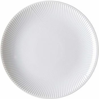 Rosenthal Teller Blend Weiß flach 21 cm Relief 2: diagonal
