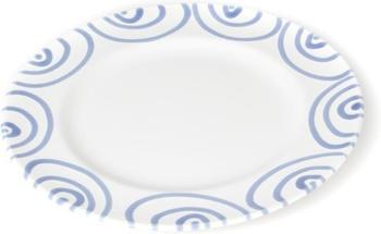 Gmundner Dessertteller Gourmet 18 cm blaugeflammt