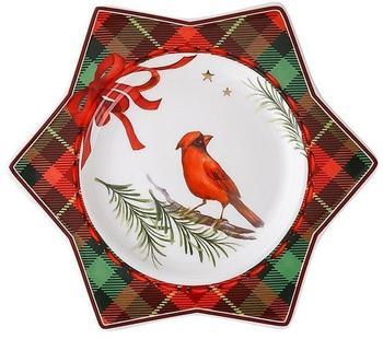 Hutschenreuther Sternteller 15 cm Cozy Winter rot-grün kariert