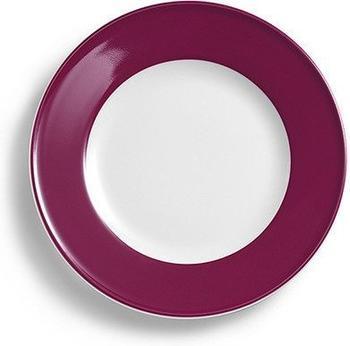 Dibbern Teller Flach 17 cm Fahne Solid Color Bordeaux