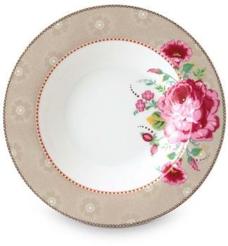 PiP Studio Floral Rose Suppenteller khaki 21,5 cm