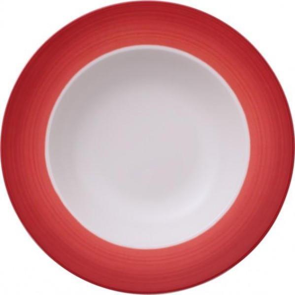 Villeroy & Boch Colourful Life Deep Red Suppenteller (25 cm) weiß/rot